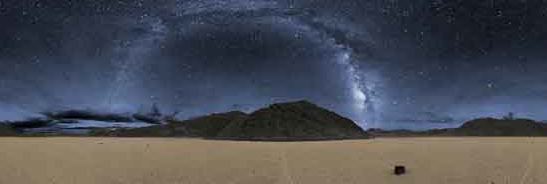 The Milky Way over the Racetrack Playa. Photo by Dan Duriscoe