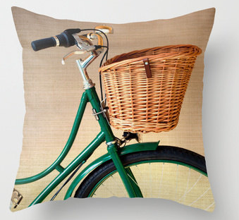 Vintage Bicycle Pillow