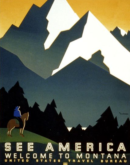 Promotional poster, United States Travel Bureau, late 1930s
