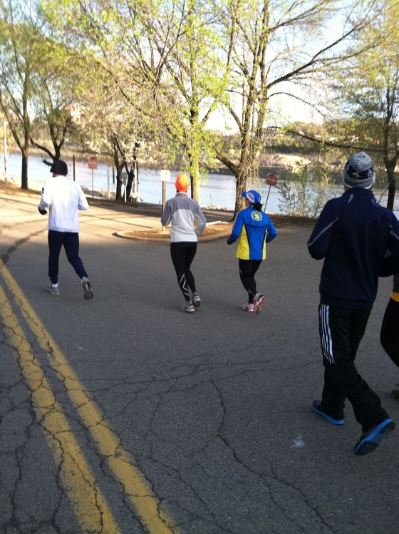 Running for Boston, In Pittsburgh.